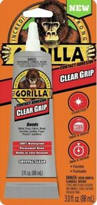 Gorilla Glue 8040002 6 Pack 3 Oz Clear Grip Contact Adhesive