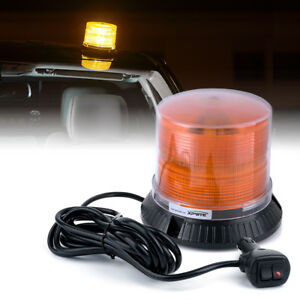 Xprite Amber 18w Rotating Led Strobe Beacon Light Emergency Warning For Truck