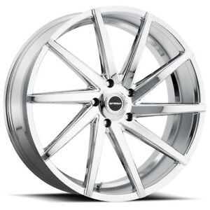 26 Inch Strada Sega 26x9 5 6x135 24mm Chrome Wheel Rim