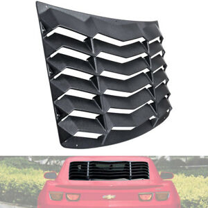 Rear Window Louver Hood Scoop Vent Sun Shade Gt Lambo For Chevy Camaro 2010 2015