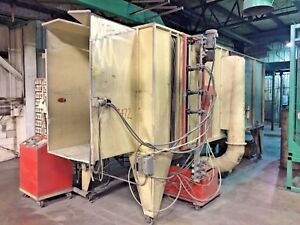 Volstatic Automatic Powder Coating Booth With Cyclone And