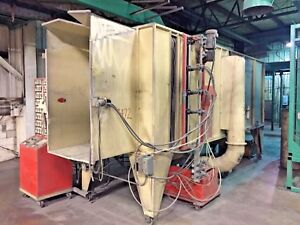 Volstatic Automatic Powder Coating Booth With Cyclone Cartridge Dust Collector