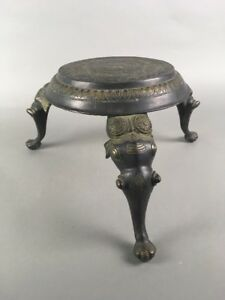 Antique Elephant Bronze Foot Stool Hollywood Regency Moroccan Indian Tibetan