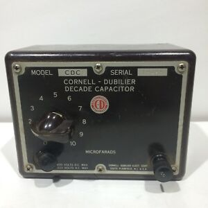 Cornell Dubilier Decade Capacitor Model Cdc3 Sn 19124 600vdc 220vac Max