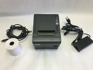 Epson M129c Tm t88iii Thermal Pos Receipt Printer Rs232 Serial Printer W Power