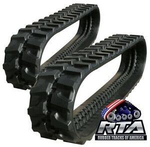 Two Rubber Tracks For Bobcat X329 334 231 X323 X231 300x52 5x80 Free Shipping