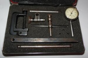 Starrett Dial Test Indicator 196a Dial Reading 0 100 W original Case