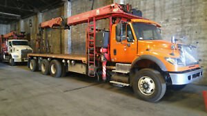 Hurricane tree Service Package Crane Truck With Dump Bed And Grapple Saw