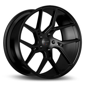 22 Gianelle Dilijan Black Concave Wheels Rims Fits Jeep Grand Cherokee Srt