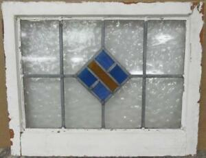 Mid Sized Old English Leaded Stained Glass Window Diamond Design 23 5 X 18 75
