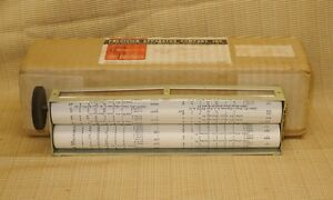 New Usa Precision Vacuum Tube Tester Data Chart Roll 910 912 914 915 920 922 954