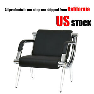 Executive Side Reception Chair Office Salon Waiting Room Guest Reception Black