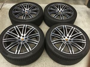 Porsche Macan Oem 21 inch 911 Turbo Design Wheels And Tires Used