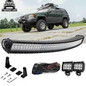 93 98 Jeep Grand Cherokee Zj 50 Curved Led Offroad Light Bar W Plug