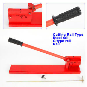Professional Manual Guide Din Rail Cutter Machine Cutting Tools Double Groove Us
