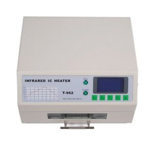 New T962 Infrared Smd Bga Ic Heater Reflow Oven 18x23 5cm 800w