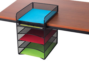Space Saver Desk Organizer Mail Invoice Document Shelf Tray Home Office Mailroom