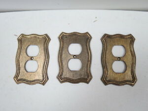 Vintage Set Of 3 1968 American Tack And Hardware Outlet Socket Plate Covers H44c