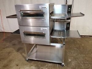 Lincoln Impinger 1116 Double Stack Nat gas Conveyor Pizza Ovens video Demo