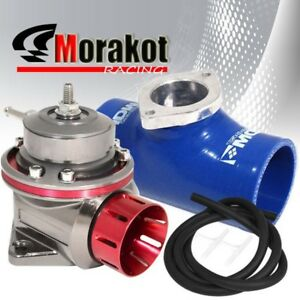 40mm Motor Red Gm Type Fv Bov Blow Off Valve 2 5 Inch Coupler Adapter Blue Jdm