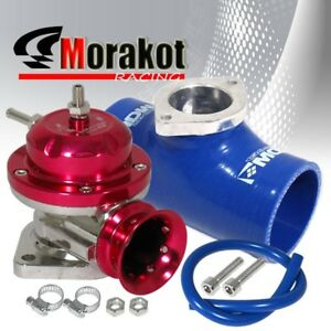 Custom Red Type Rs Bov Blow Off Valve 2 5 Inch Silicone Coupler Pipe Blue Jdm