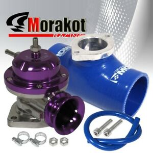 Universal Purple Type Rs Bov Blow Off Valve 2 5 Inch Blue Silicone Coupler Pipe