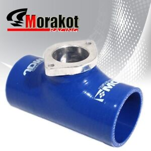 Universal Blue Type Rs S Rz 2 5 Inch Silicone Bov Blow Off Valve Flange Adapter
