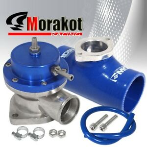 New Custom Blue Type s Turbo Bov Blow Off Valve jdm 2 5 Flange Coupler Adapter