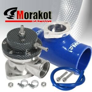 New Type s Turbo Bov Blow Off Valve Carbon jdm 2 5 Flange Coupler Adapter Blue