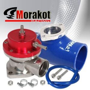 Type S Turbo Bov Blow Off Valve Red 2 5 Flange Silicone Coupler Adapter Blue
