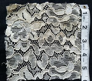 A28 Vintage French Lace Flower Inset Trim Applique Sewing Costume Doll