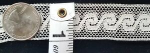 A26 Antique French Lace Edwardian 1yd Insert Trim Insertion Sewing
