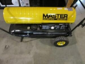 Master 190000 Btu Kerosene Forced Air Heater With Thermostat New