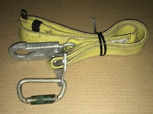 Buckingham Safety Belt Pole Climbing Yellow Strap lanyard