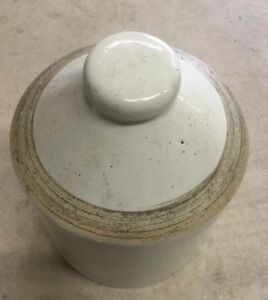 Primitive Antique Stoneware Chicken Waterer No Bowl