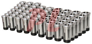 57 Pc 1 8 To 1 5c Round Collet Set By 64ths Harden Machinist Tool 0006 Tir