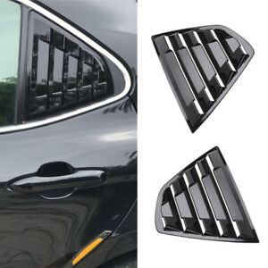 2x For 2018 Toyota Camry Black Rear Side Vent Window Louvers Cover Trim