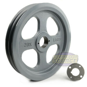Cast Iron 10 75 2 Groove Dual Belt B Section 5l Pulley 1 1 8 Sheave Bushing