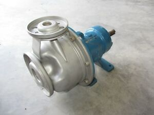 Goulds 1x2 Stainless Pump 83200j No Tag Stainless Impeller Used