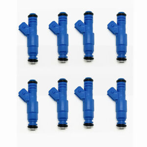 Set 8 Oe Upgrade 6 Hole Fuel Injectors 17120601 For Gmc Chevy 454 7 4l V8