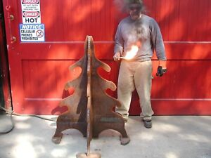 Iron Art Tree Parking Traffic Control Bollard 480 Lbs 1 Plate By Blacksmits