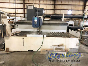 6 X 12 Used Flow Cnc Water Jet Cutting System Mdl Sc 6012 A5254