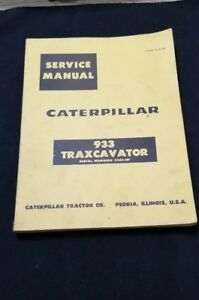 Caterpillar Cat 933 Traxcavator Excavator Shop Service Repair Manual 42a1 up