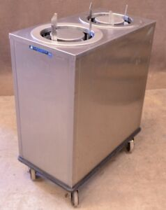 Lakeside Stainless Steel Dual Plate Dish Dispenser 10 Holding Cabinet