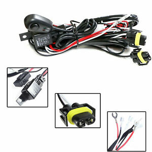Universal Relay Harness Wire Kit Led On off Switch For Hid Worklamp Fog Lights