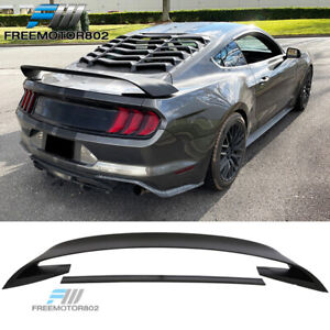 Fits 15 19 Ford Mustang Gt350r Style Matte Black Rear Trunk Spoiler