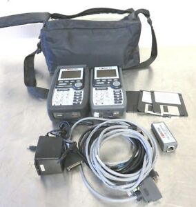 2 X Fluke Microtest Compas Lan Network Cable Tester Scanner