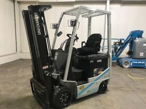 New 2017 Nissan 3000 Lb Capacity Electric Forklift 2 Year Unlimited Hr Warranty
