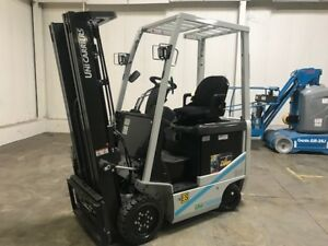 New 2017 Nissan 3000 Lb Capacity Electric Forklift 5 Year Full Factory Warranty