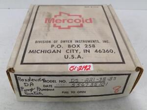 Dwyer Instruments Mercoid Pressure Switch Ds 221 3b 8s Nib